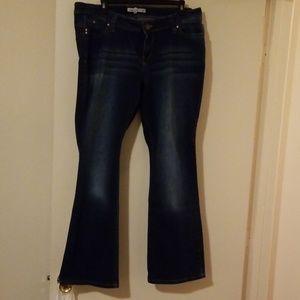 YMI Jeans - YMI Midrise flared leg distressed Jean's Size 16